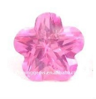 fancy star pink cz stone