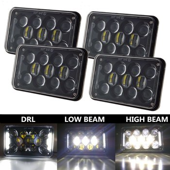 2017 New sealed beam 5 inch 4x6 led auxiliary light for jeep excavator