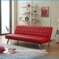 High Quality Leather Futon Sofa Bed