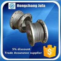 High temperature resistant duct bellows expansion joint for heat exchanger
