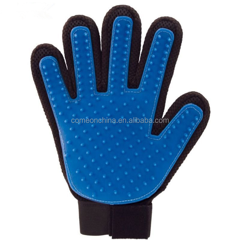 FIVE FINGER DESHEDDING GLOVE TRUE TOUCH GLOVE Pet Grooming True Touch gloves
