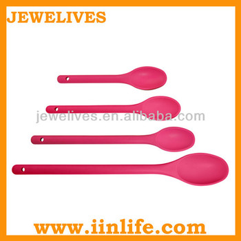 Silicone small jelly fancy coconut shell spoon