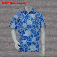 Full printing design your own custom oem hawaiian shirt