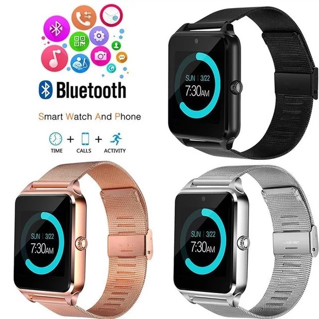 Z60 steel band smart watch multi-language SIM card touch screen built-in all International Famus Social Networking Services APP