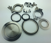 Sanitary Stainless Steel SS304 Vacuum Fitting KF Flange,Clamp,Centering Ring and Blank Cap