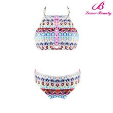 Lover-Beauty Fashion Colorful Circles Bondage Bikinis