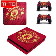 Wholesale football club console skin sticker for Sony ps4 slim