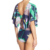 2017 New Design Girl Bathing Suit Women Brazilian Plunging Neckline Butterfly Sleeves Blue Multi One Piece Swimsuit