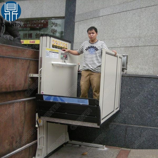 250kg hydraulic vertical wheelchair stair lift for home use