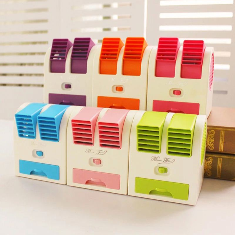 colorful plastic cooling fans USB mini air conditioner