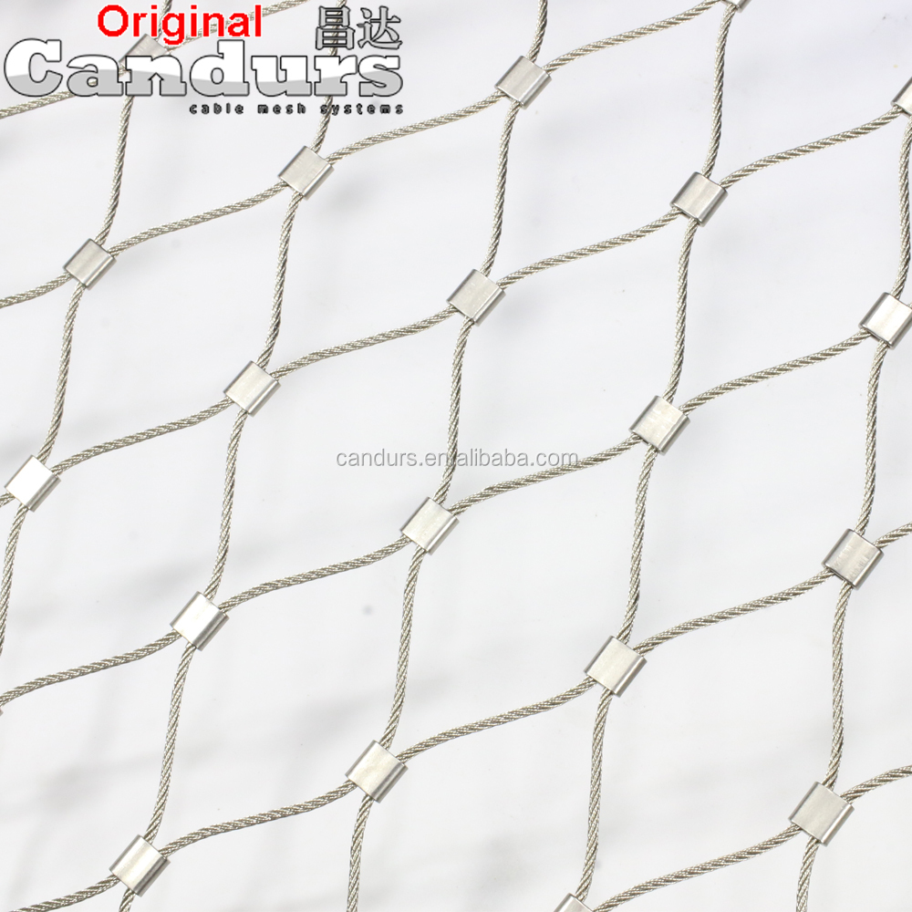DecorRope Stainless Steel Wire Rope Cable Fence Mesh For Zoo Bird Aviary Animal Enclosure