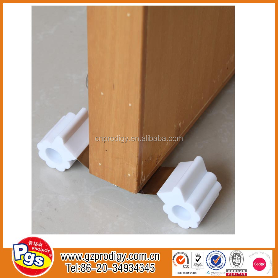 baby safety plastic removable decorative metal door wedge