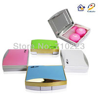 2016 cheap wholesale cosmetic classical contact lens case /box A-8073