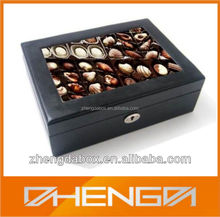 High Quality Customized Made-In-China Wooden Popular Chocolate Box with Tray (ZDL-CHO-W32)