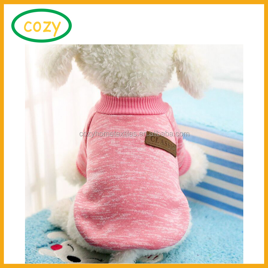 2017 Cheap Price Pet Dog Clothes Soft Thickening Warm Simple Plain Color Polar Fleece Pet Winter Clothes
