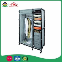 mini portable zipper fold wardrobe foldable , portable wardrobe clothes closet