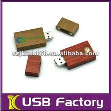 Popular 4gb wood material usb flash memory
