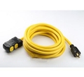 Generator extension cord set