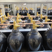 Industrial gas cylinder bundles for oxygen nitrogen argon co2 with manifold