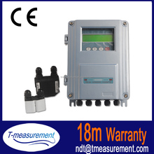 cheap ultrasonic flow meter with insertion transducer
