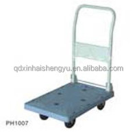 PH1007 hand cart plastic folding food service hand push truck