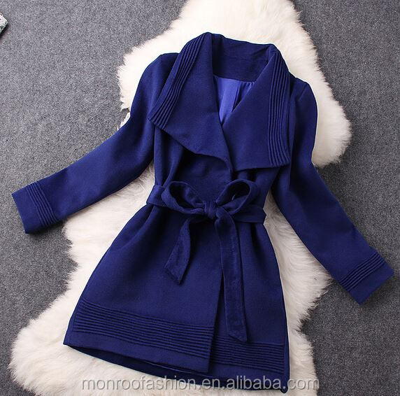 Monroo 2015 korea style ladies thicken woolen jacket overcoat