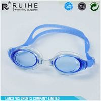 Modern style superior quality waterproof silicone swim goggles with many colors