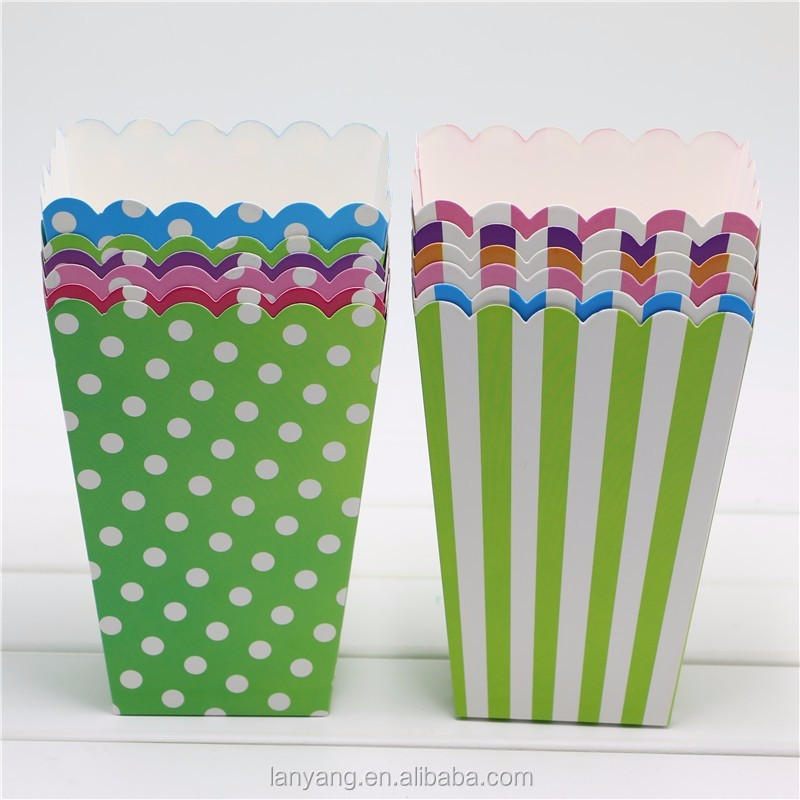 Outside the Box Papers Chevron, Stripe and Polka Dot Paper Popcorn Boxes