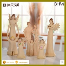happy family kids various polyresin white angel ornament for gifts