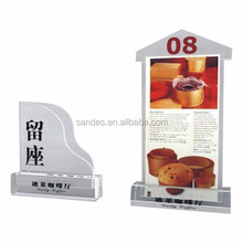 Dependable Performance Acrylic Red Menu Card Holder Stands