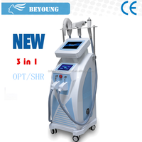 4in1 OPT E- light IPL RF(cooling+heat) YAG laser laser Hair Removal Multi Function Beauty Machine for Multi Treatments