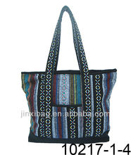 Fashion multicolor striped Ethnic totes handbags
