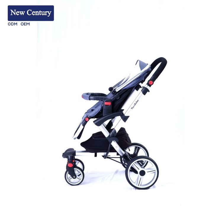NEW CENTURY New design aluminum luxury baby carrying trolley child stroller trike with great price