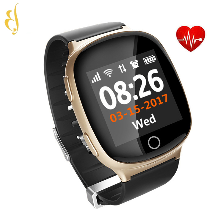 <strong>d100</strong> elderly care gps wifi tracker smart watch emergency phone sos fall detection smartwatch
