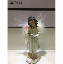 Resin fiber optic angel figurines gift