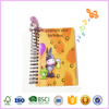 custom LED light musical hardcover spiral diary paper notebook