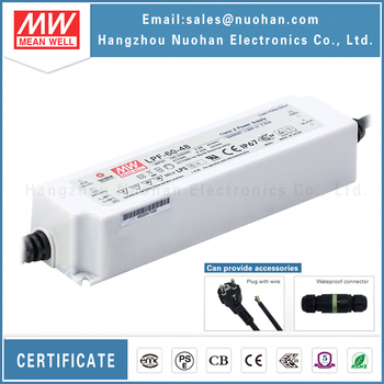 Mean Well led waterproof driver ip67 LPF-60-48 60W 48V ul led driver
