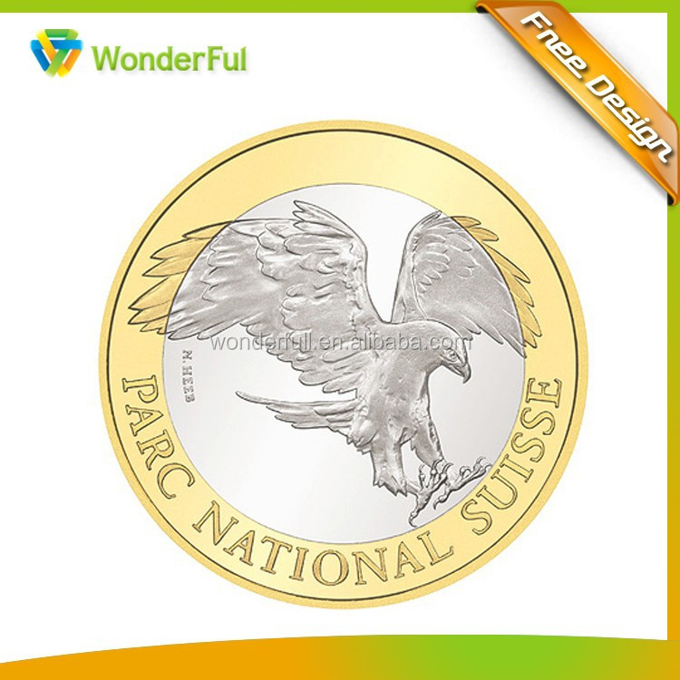 Metal,Brass Material and Business Style Gold and Silver American Eagle Coin