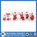 christmas wooden little train with santa for table decoration