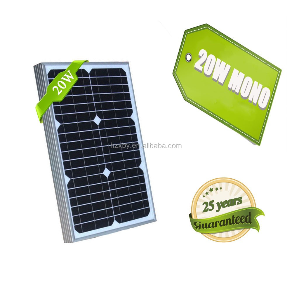 China cheapest price 20w 12v 1 amp mono small high quality solar panel