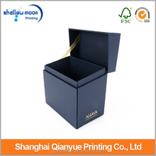 China custom made packaging box, black rectangle snap jewel box