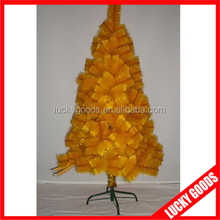 personized metal stand outdoor decoration yellow christmas tree wholesale