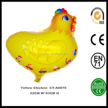 Best selling Yellow Chicken helium balloon for kids,wholesale inflatable helium foil balloon