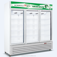 Ventilated/Static 3 glass door upright display /showcase cooler net capacity 1138L (Range from 208L to 1650L)