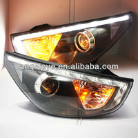 For HYUNDAI Tucson IX35 LED Head Light Angel Eyes 10-12 year V6J Y Type