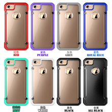 Newest beetle series tranparent phone design TPU+PC+ABS material slim armor cases for iphone 6 plus