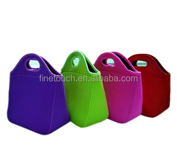 customized neoprene material lunch bag with different color
