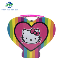 Alibaba manufacturer cartoon cute pattern high quality tinplate primary packaging box