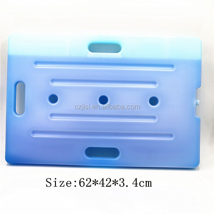 Large HDPE Plastic thermal insulate Super gel ice cooler box for refrigerator
