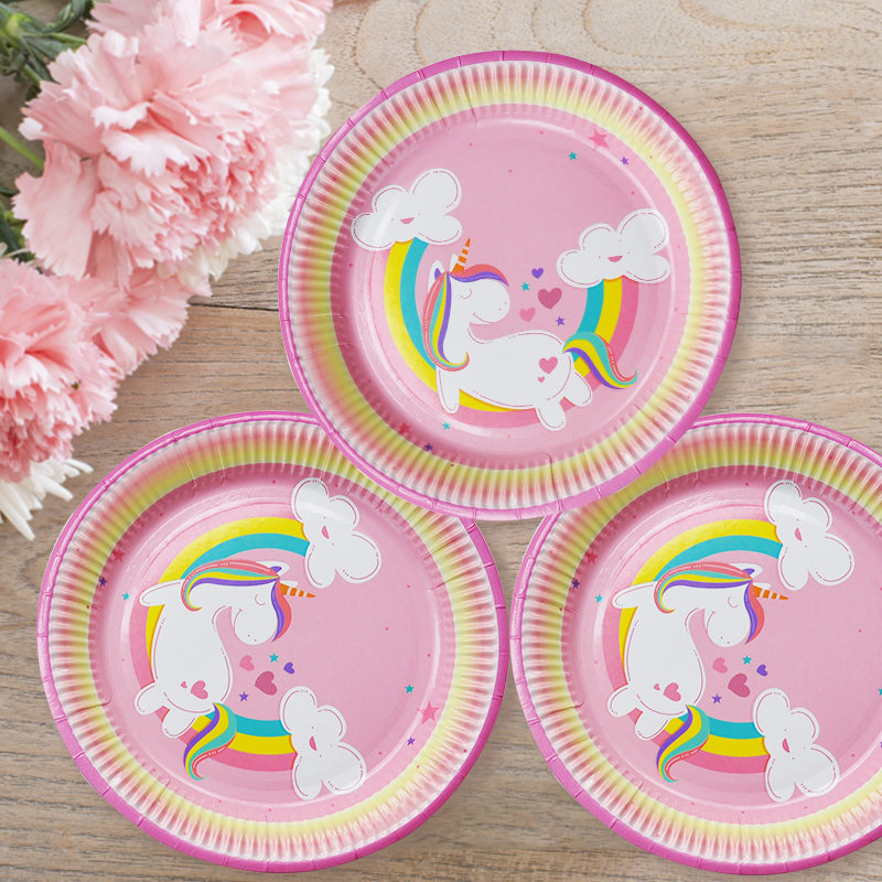 23 cm New Unicorn Party Paper <strong>Plate</strong>